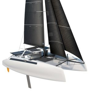 catamaran / cruising-racing / open transom / with enclosed cockpit