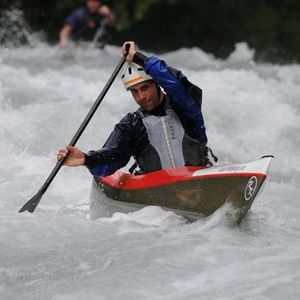 racing canoe / river running / solo