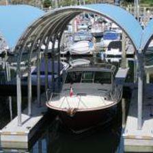boat shelter / dock-mounted