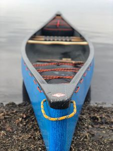 river running canoe / 2-person / wooden