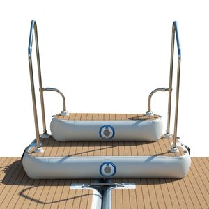 inflatable boat step