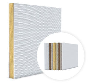 ship partition wall sandwich panel / for ship ceilings / for fire protection / for thermal insulation