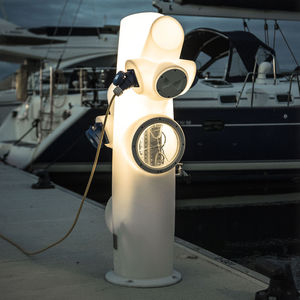 pedestal with built-in light