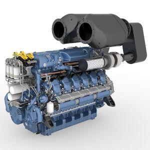 inboard engine / diesel / professional vessel / direct fuel injection