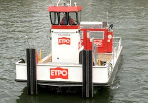 work barge professional boat / push tug / inboard / aluminum