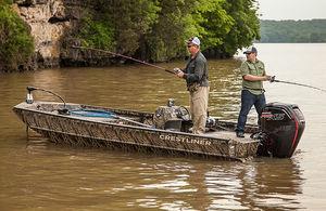 outboard jon boat / side console / sport-fishing / aluminum