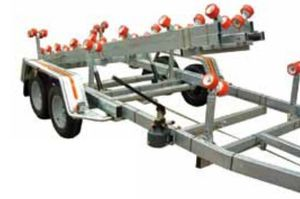 handling trailer / shipyard / roller