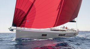 cruising sailing yacht / open transom / with 3 or 4 cabins / with bowsprit