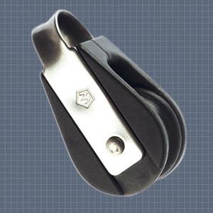 ball bearing block / single / with fixed head / max. rope ø 6 mm
