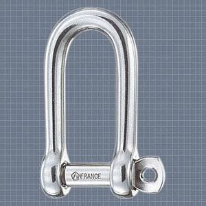 long shackle for sailboats / forged / stainless steel