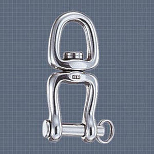 shackle for sailboats with swivel / stainless steel / forged