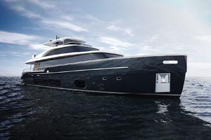 cruising motor yacht / flybridge / V-drive / GRP