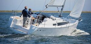 cruising sailboat