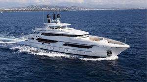 cruising mega-yacht