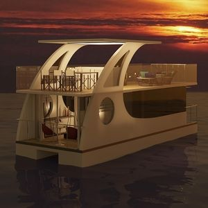 catamaran houseboat