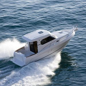inboard cruising fishing boat / twin-engine / wheelhouse / 8-person max.