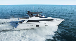 cruising luxury super-yacht / raised pilothouse