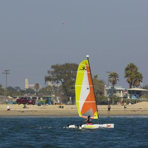 recreational sport catamaran / instructional / double-handed / catboat
