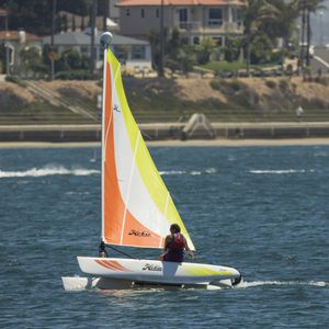 recreational sport catamaran / double-handed / single-handed / catboat