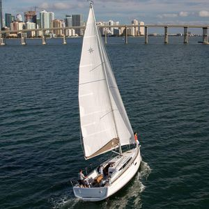 cruising sailboat