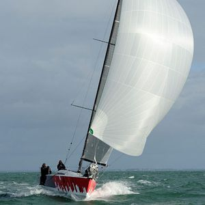 cruising-racing sailboat