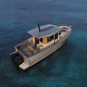 outboard express cruiser / twin-engine / wheelhouse / 2-cabin