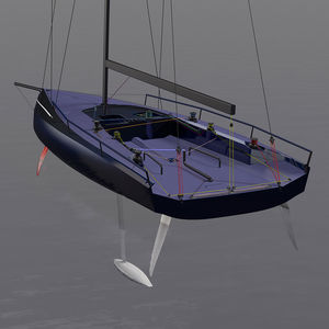 racing sailboat / open transom / foiling / with bowsprit