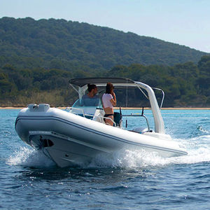 outboard inflatable boat / rigid / open / center console