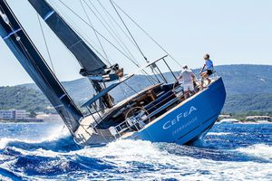 cruising-racing sailing yacht