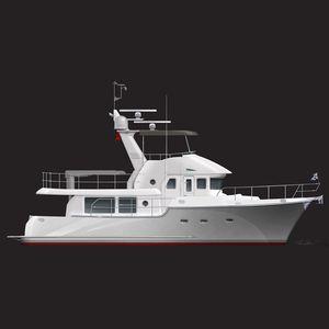 inboard express cruiser / flybridge / trawler / with cabin