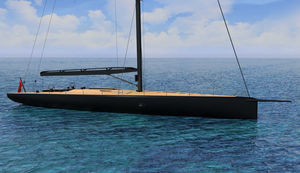 cruising-racing sailing yacht / open transom / carbon / with bowsprit