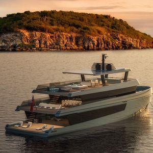 cruising super-yacht / raised pilothouse