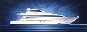 cruising super-yacht / with enclosed flybridge / displacement hull / 4-cabin