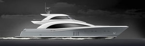 sport super-yacht / with enclosed flybridge / displacement / 4-cabin