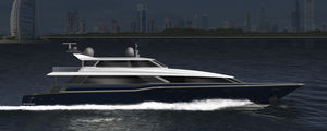 sport-fishing super-yacht / with enclosed flybridge / 5-cabin