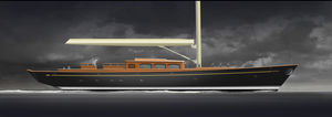 classic sailing yacht / open transom / 3-cabin / cutter