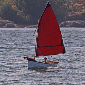 multiple sailing dinghy