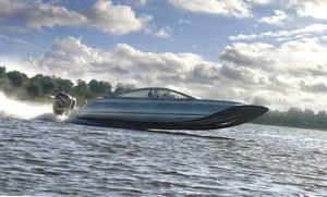 catamaran runabout / outboard / offshore / aluminum