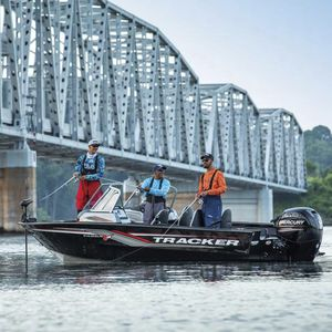 outboard bay boat / dual-console / sport-fishing / aluminum