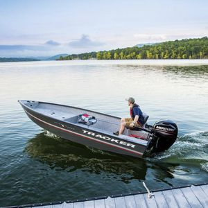 outboard bay boat / sport-fishing / aluminum / 4-person max.