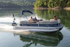 outboard pontoon boat / tri-tube / wakeboard / ski