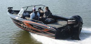 outboard bay boat / dual-console / sport-fishing
