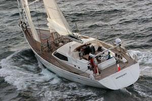 cruising sailing yacht