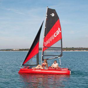 inflatable sport catamaran / asymmetric spinnaker