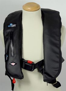 foam life jacket / self-inflating / 170 N / with safety harness