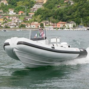 Inflatable boat with jockey console - All boating and marine
