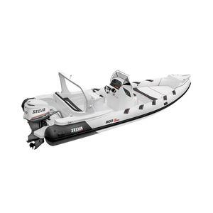 outboard inflatable boat / rigid / center console / 18-person max.