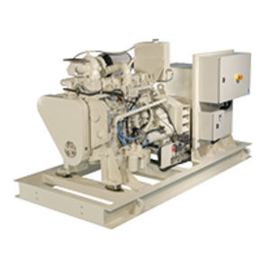 ship generator set / diesel / with alternator / emergency