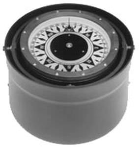 boat steering compass / magnetic / horizontal / binnacle-mounted
