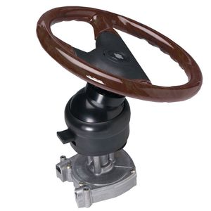 power boat steering / hydraulic / articulated